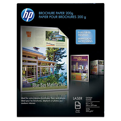 HP Color Laser Glossy Photo Paper, - 100 sheets, 8.5 x 11-inch