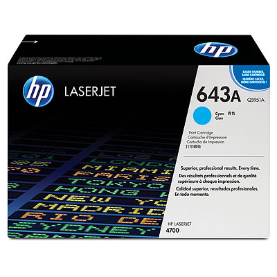 HP Color LaserJet Q5951A Cyan Toner Cartridge