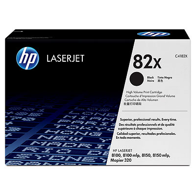 HP 82X High Yield Black Original LaserJet Toner Cartridge C4182X