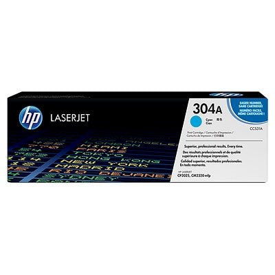 HP 304A Cyan Original LaserJet Toner Cartridge