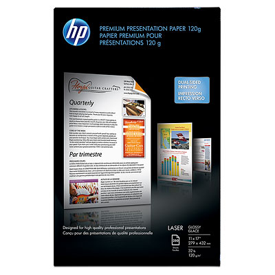 HP Color Laser Presentation Paper, glossy - 250 sheets, 11 x 17-inch