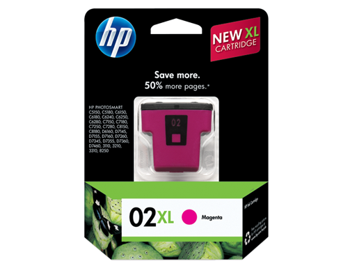 HP 02XL High Yield Magenta Original Ink Cartridge