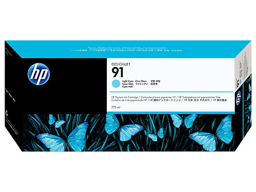 HP 91 775-ml Pigment Light Cyan Ink Cartridge