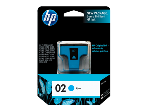 HP 02 Cyan Original Ink Cartridge