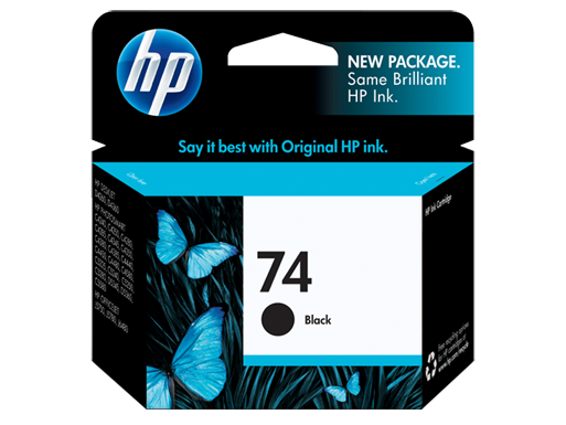 HP 74 Black Inkjet Print Cartridge