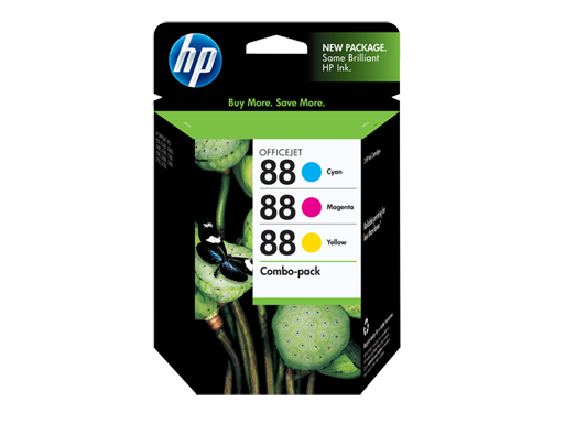 HP 88 Combo-pack Cyan/Magenta/Yellow Officejet Ink Cartridges
