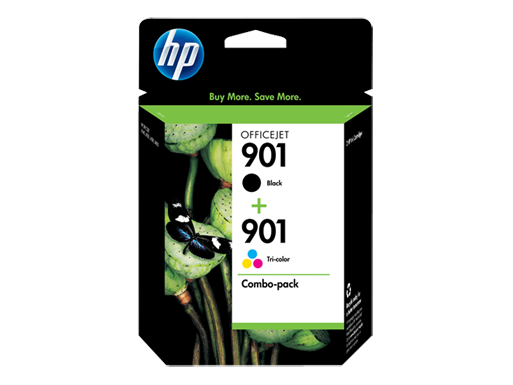 HP 901 Combo-pack Black/Tri-color Officejet Ink Cartridges
