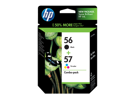 HP 56 Black/57 Tri-color 2-pack Original Ink Cartridges