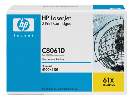HP 61X 2-pack High Yield Black Original LaserJet Toner Cartridges