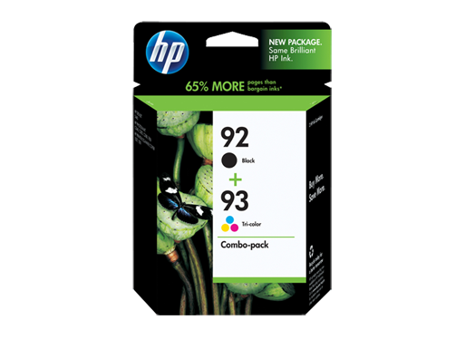 HP 92 Black/93 Tri-color 2-pack Original Ink Cartridges