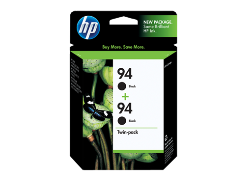 HP 94 2-pack Black Inkjet Print Cartridges