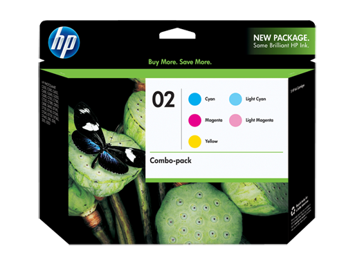 HP 02 5-pack Cyan/Magenta/Yellow/Lt Cyan/Lt Magenta Original Ink