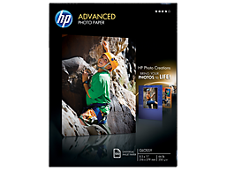 HP Advanced Glossy Photo Paper-100 sht/Letter/8.5 x 11 in
