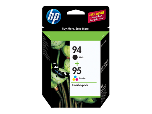 HP 94 Black/95 Tri-color 2-pack Original Ink Cartridges