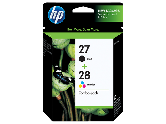 HP 27/28 Combo-pack Inkjet Print Cartridges