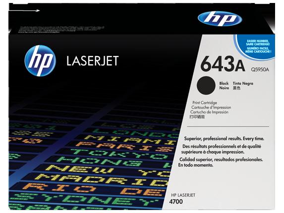 HP 643A Black Original LaserJet Toner Cartridge, Q5950A