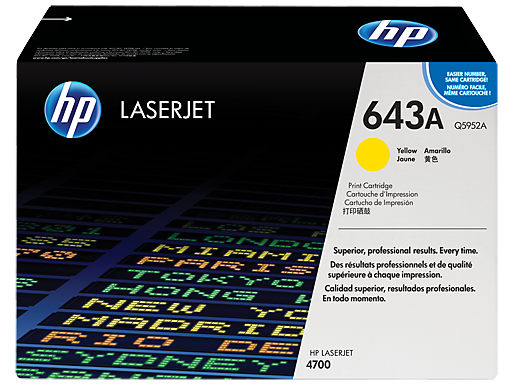 HP 643A Yellow LaserJet Toner Cartridge
