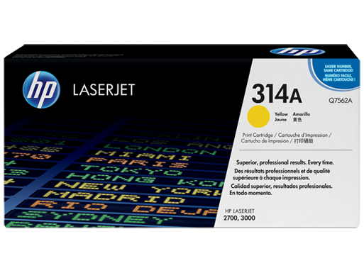 HP 314A Yellow Original LaserJet Toner Cartridge