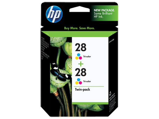 HP 28 2-pack Tri-color Inkjet Print Cartridges