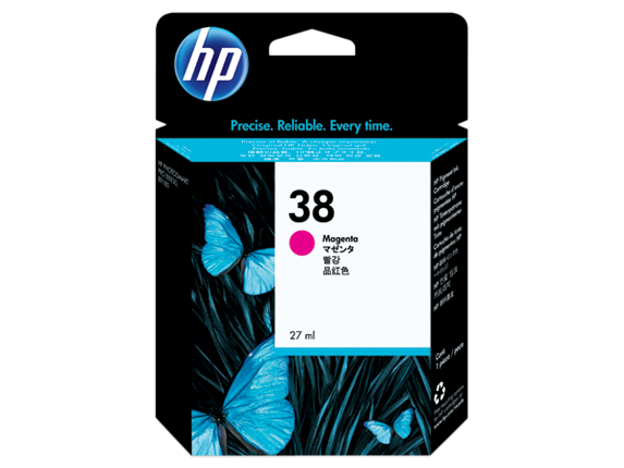 HP 38 Magenta Pigment Ink Cartridge