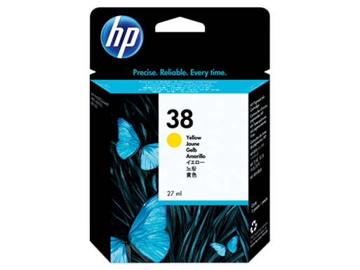 HP 38 Yellow Pigment Original Ink Cartridge