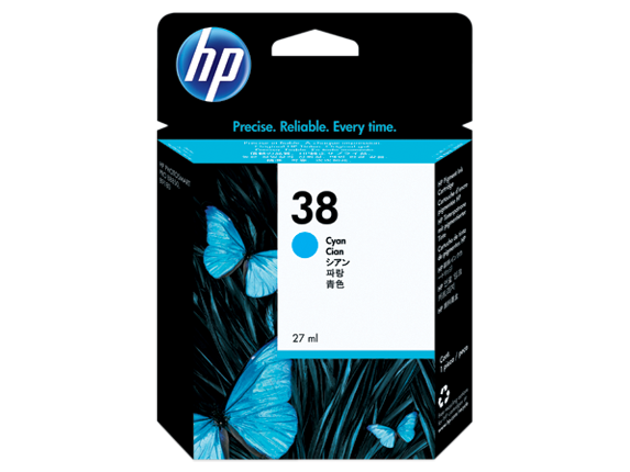 HP 38 Cyan Pigment Original Ink Cartridge