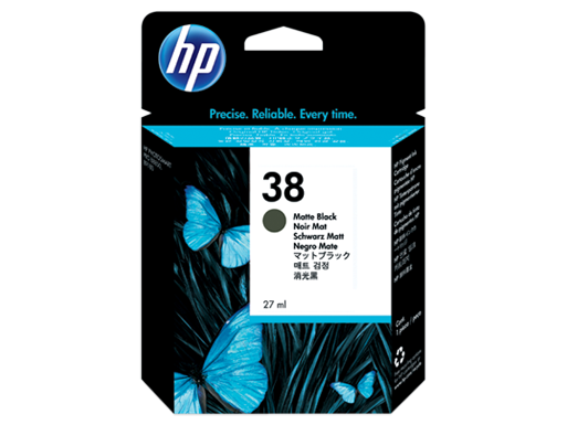 HP 38 Matte Black Pigment Original Ink Cartridge