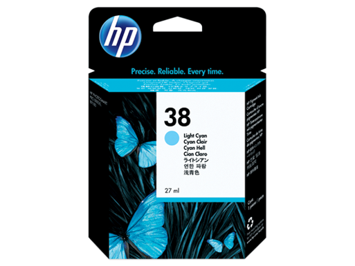 HP 38 Light Cyan Pigment Original Ink Cartridge