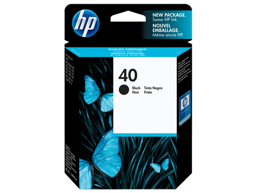 HP 40 Black Original Ink Cartridge