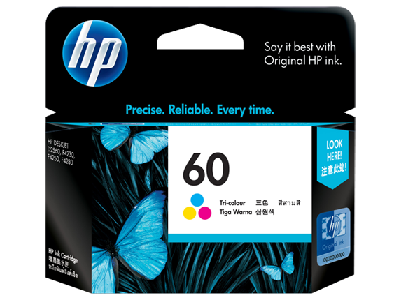 HP 60 Tri-color Ink Cartridge