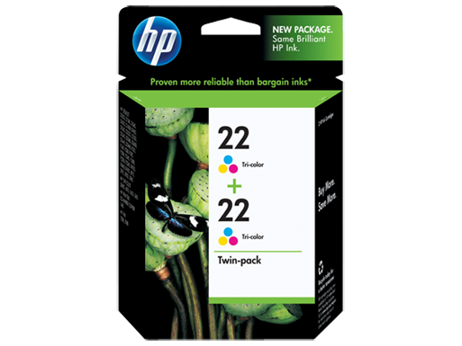 HP 22 2-pack Tri-color Original Ink Cartridges