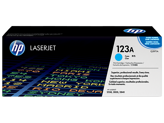 HP 123A Cyan LaserJet Toner Cartridge