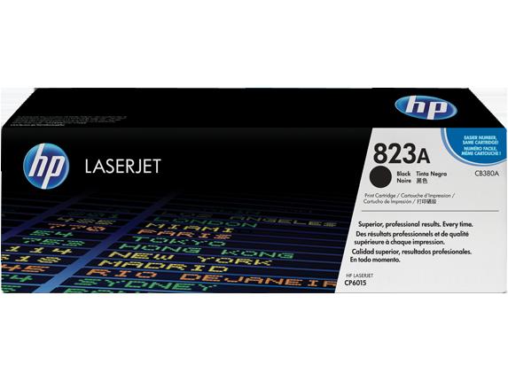 HP 823A Black Original LaserJet Toner Cartridge, CB380A