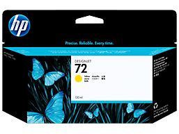 HP 72 130-ml Yellow DesignJet Ink Cartridge