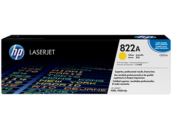 HP 822A Yellow LaserJet Toner Cartridge