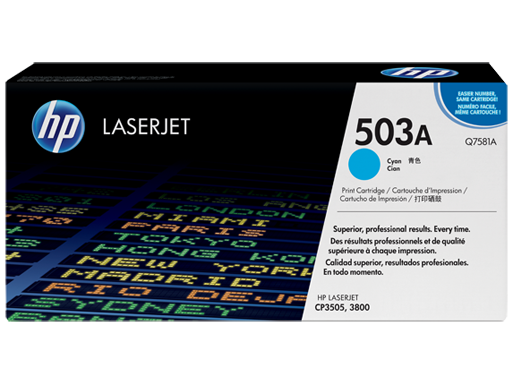 HP 503A Cyan LaserJet Toner Cartridge