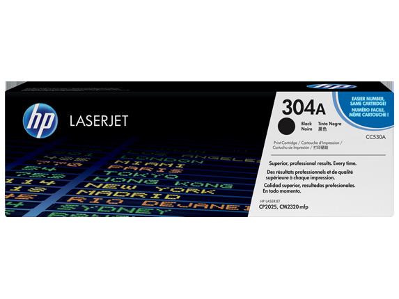 HP 304A Black Original LaserJet Toner Cartridge, CC530A