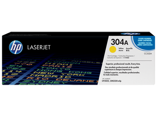 HP 304A Yellow LaserJet Toner Cartridge
