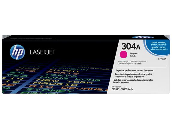HP 304A Magenta Original LaserJet Toner Cartridge, CC533A