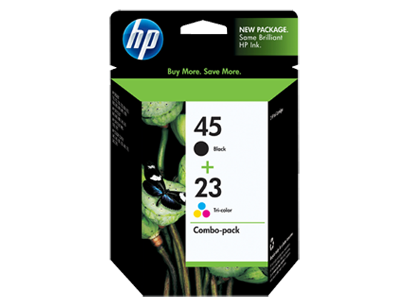HP 45/23 Combo-pack Inkjet Print Cartridges