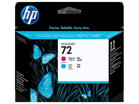 HP 72 Magenta and Cyan DesignJet Printhead