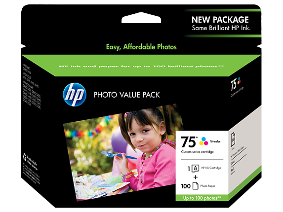 HP 75 Photo Value Pack-100 sht/4 x 6