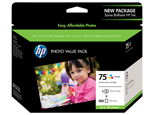 HP 75 Photo Value Pack-100 sht/4 x 6 in