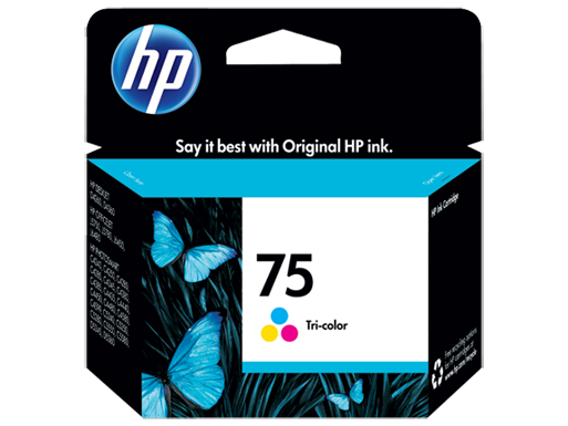 HP 75 Tri-color Inkjet Print Cartridge