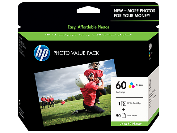 HP 60 Photo Value Pack-50 sht/4 x 6 in