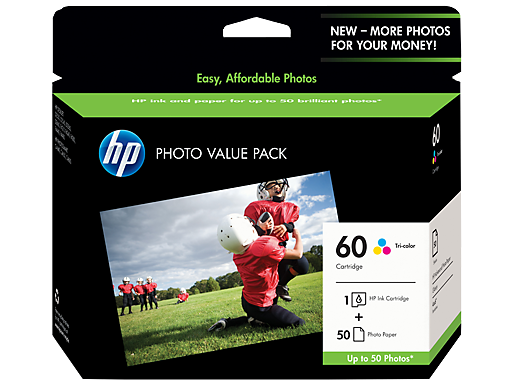 HP 60 Photo Value Pack-50 sht/4 x 6