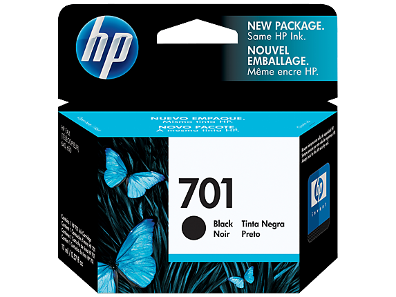 HP 701 Black Inkjet Print Cartridge