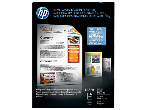 HP Premium Glossy Presentation Paper 120 gsm-250 sht/Letter/8.5