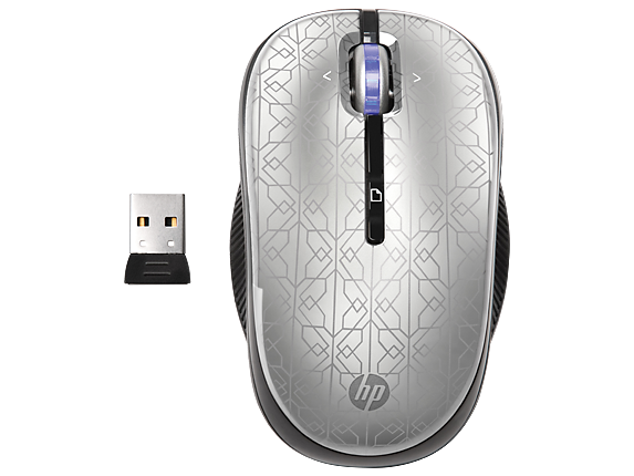 HP 2.4GHz Wireless Optical (Silver) Mobile Mouse
