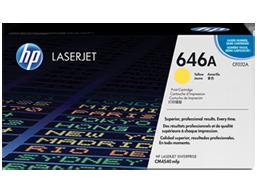 HP 646A Yellow Original LaserJet Toner Cartridge, CF032A
